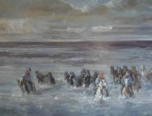 Redding paarden bij Marrum