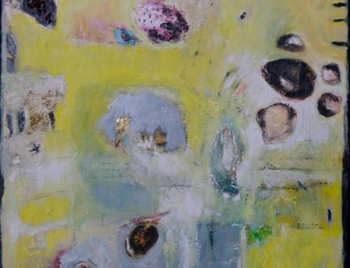 Geel-groen abstract