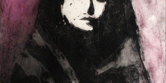 Voor de executie 2013 Ets 19 x 19 cm