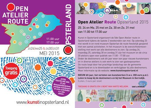 Flyer atelierroute Opsterland 2015